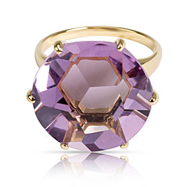 Ippolita Rock Candy Amethyst Ring in 18KT Yellow Gold Purple