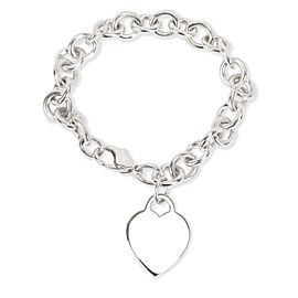 Tiffany & Co. Heart Tag Charm Bracelet in Sterling Silver