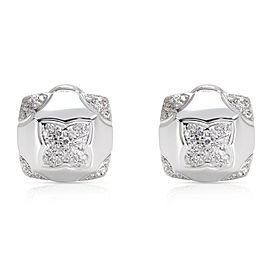 Bulgari Piramide Diamond Earrings in 18K White Gold 0.58 CTW