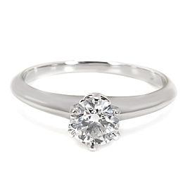 Tiffany & Co. Diamond Engagement Ring in Platinum F VS1 0.62 CTW