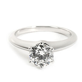 Tiffany & Co. Diamond Engagement Ring in Platinum G VS1 1.02 CTW
