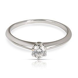 Tiffany & Co. Solitaire Diamond Engagement Ring in Platinum F VS2 0.34 CTW