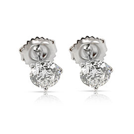 Diamond Stud Earring in 14K White Gold GIA Certified J SI2 1.61 CTW