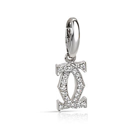 Cartier Interlocking C Diamond Pendant in 18K White Gold 0.20 CTW