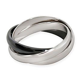 Cartier Ceramic Trinity Ring in 18K White Gold