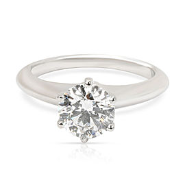 Tiffany & Co. Diamond Engagement Ring in Platinum E VVS2 1.08 CTW