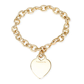 Tiffany & Co. Heart Tag Charm Bracelet in 18K Yellow Gold