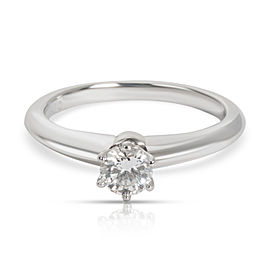 Tiffany & Co. Solitaire Diamond Solitaire Ring in Platinum F VS1 0.25 CTW