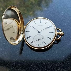 J. PIAGET & SONS 18kt Gold Full Case Pocketwatch, c.1900s Swiss Vintage MA108