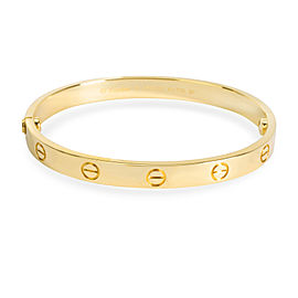 Cartier Love Bracelet in 18K Yellow Gold Size 17