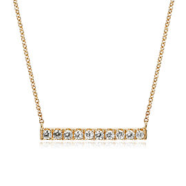 Diamond Bar Necklace in 14K Yellow Gold 0.4 CTW
