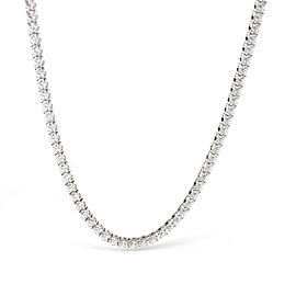 Cartier Essential Lines Diamond Tennis Necklace in 18K White Gold 7.41 CTW