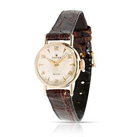 Vintage Rolex Precision Dress Women's Watch in 9kt Yellow Gold