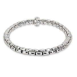 Fope Flex-It Diamond Bangle Bracelet in 18K White Gold 0.18 CTW