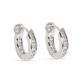 Tiffany & Co. In Out Diamond Hoop Earring in Platinum 1 CTW