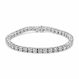 BRAND NEW 4-Prong Diamond Tennis Bracelet in 14k White Gold (6.01 CTW)