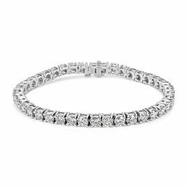 BRAND NEW 4-Prong Diamond Tennis Bracelet in 14k White Gold (6.01 CTW)