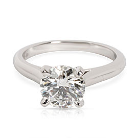 Cartier Solitaire Diamond Engagement Ring in Platinum H VS1 1.41 CTW