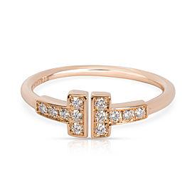 Tiffany & Co. Diamond T Ring in 18K Rose Gold (0.12 CTW)