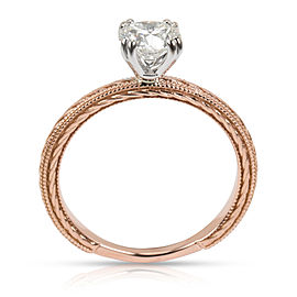 GIA Certified James Allen Solitaire Diamond Ring in 14K Rose Gold J VVS2 0.83CTW