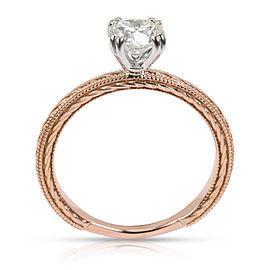 GIA Certified James Allen Solitaire Diamond Ring in 14K Rose Gold J VVS2 0.83CTW