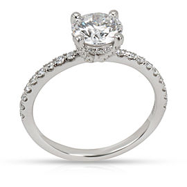 GIA Certified James Allen Diamond Engagement Ring in Platinum E VVS2 1.37 CTW