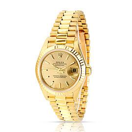 Rolex Datejust 69178 Women's Watch in 18kt Yellow Gold
