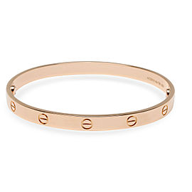 Cartier Love Bangle in 18K Pink Gold Size 20