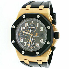 Audemars Piguet Royal Oak Offshore 18K Rose Gold 42mm Chronograph Mens Watch