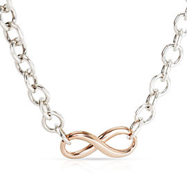 Tiffany & Co. Infinity Necklace in Rubedo & Sterling Silver