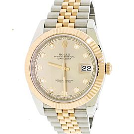 Rolex Datejust 41 Factory Sundust Diamond Dial 2-Tone Jubilee Watch 126331