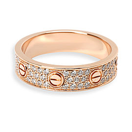Cartier Love Diamond Pave Wedding Band in 18K Rose Gold