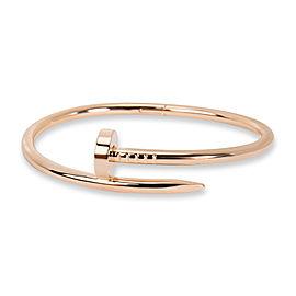 Cartier Juste Un Clou Bracelet in 18K Pink Gold Size 16
