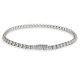 Cartier Essential Lines Tennis Bracelet in 18 White Gold 3.42 CTW
