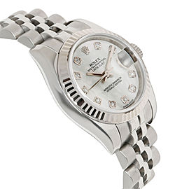 Rolex Datejust 179174 Women's Watch in 18kt White Gold/Steel