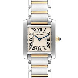 Cartier Tank Francaise 20mm Steel Yellow Gold Ladies Watch W51007Q4
