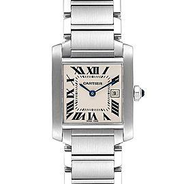 Cartier Tank Francaise Midsize 25mm Steel Ladies Watch W51011Q3