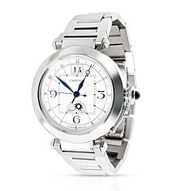 Cartier Pash GMT W31093M7 Men's Watch in Stainless Steel