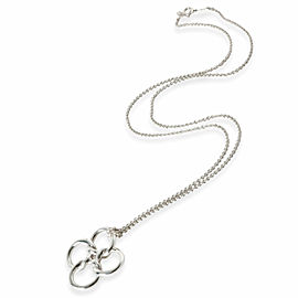 Tiffany & Co. Vintage Four Ring Knot Necklace in Sterling Silver