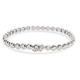 Tiffany & Co. Doughnut Bezel Diamond Tennis Bracelet in Platinum (2.50 CTW)