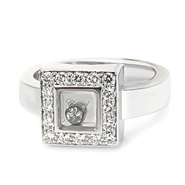 Chopard Square Happy Diamonds Ring in 18K White Gold 0.38 CTW
