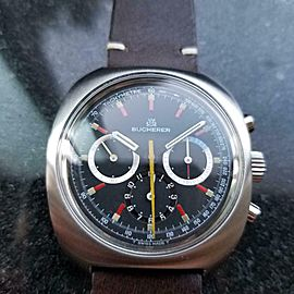BUCHERER Men's Ref.9652 Manual-Wind Chronograph, c.1970s Swiss Vintage MA142