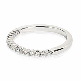 Round Cut Diamond Wedding Band in 14K White Gold 0.16 CTW