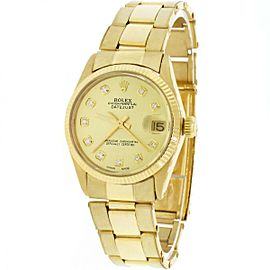 Rolex Datejust Midsize 31mm 18K Yellow Gold Oyster Ladies Watch