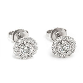 Tiffany & Co. Vintage Flower Diamond Earrings in Platinum (0.70 CTW)