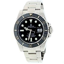 Rolex Submariner Date Ceramic Bezel 40MM Oyster Steel Watch 116610 Box&Papers