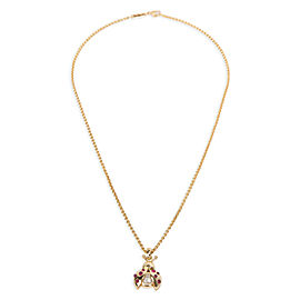 Chopard Happy Diamonds Ladybug Pendant in 18K Yellow Gold 0.05 CTW