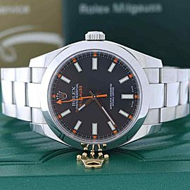 Rolex Milgauss 40MM Black Dial Automatic Stainless Steel Mens Watch