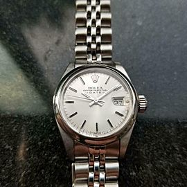 ROLEX Ladies ss Oyster Perpetual Date 6916 Automatic, c.1978 Swiss Vintage LV843