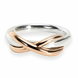 Tiffany & Co. Infinity Ring in Sterling & 18KT Gold